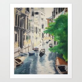 Venice digital print Art Print