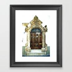 Italian door Framed Art Print