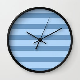 Baby Blue Stripes Wall Clock
