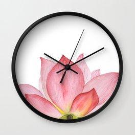 Pink lotus #2 Wall Clock