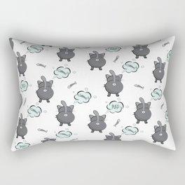 Cat fart Rectangular Pillow