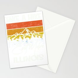 East Moline Illinois Vintage Take A Hike Stationery Cards