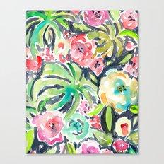 TROPICALIA Watercolor Tropical Floral Canvas Print