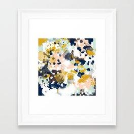 Sloane - abstract painting gender neutral baby nursery dorm college decor Framed Art Print
