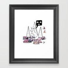 Collage Fox Framed Art Print