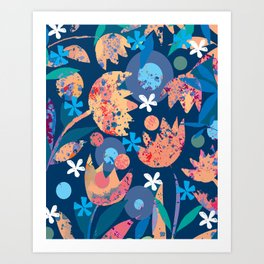 Busy Blossoms Art Print