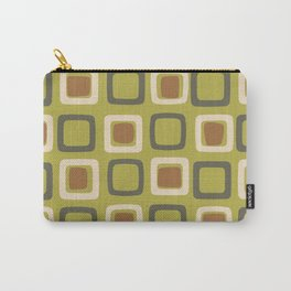 Mid Century Modern Squares Chartreuse Carry-All Pouch