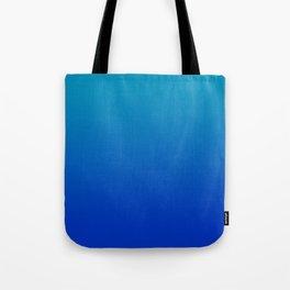 Ombre Hawaiian Ocean Blue Zaffre Gradient Motif Tote Bag