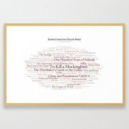 Books Everyone Should Read (Original-version) Framed Art Print