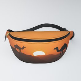Sundown with Camels Fanny Pack