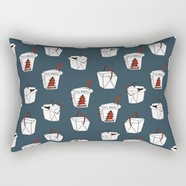 Rice takeout chinese food container new york style chinese food pattern Rectangular Pillow