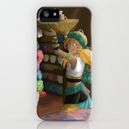Paintings on textile iPhone Case