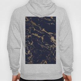 Modern luxury chic navy blue gold marble pattern Hoody