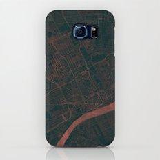 Detroit Map Red Slim Case Galaxy S7