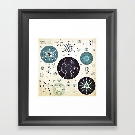 Snowflakes Part Deux Framed Art Print