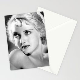 Bette Davis Eyes, Hollywood Starlet black and white photograph / black and white photography Stationery Cards