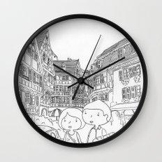 promenade en Alsace Wall Clock