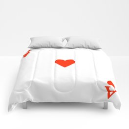 Ace of hearts Costume Halloween Deck of Cards - playing card Comforters
