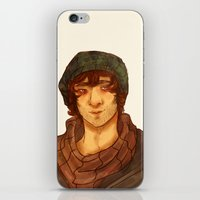 grantaire iPhone & iPod Skins featuring Grantaire by deadpokerface
