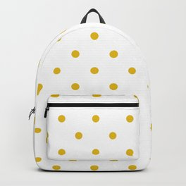 Mustard Yellow Small Polka Dots Backpack