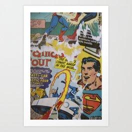 Comics Trip 2 Art Print