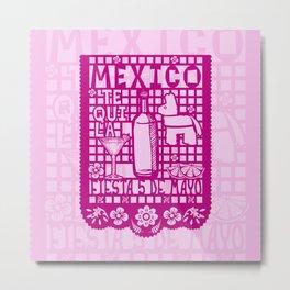 Mexican Paper Metal Print