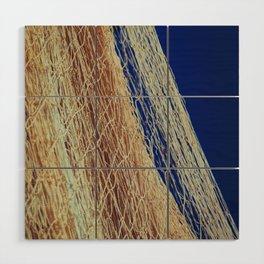 Nylon fishnet on the clear sky Wood Wall Art