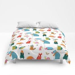 Scandinavian woodland animals pattern print Comforters