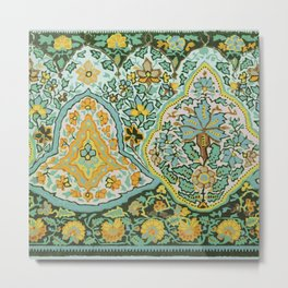 Textile Border Painting circa 1850 recolored Metal Print