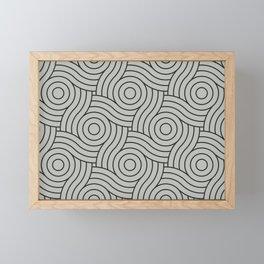 Circle Swirl Pattern Benjamin Moore's color of the year 2019 Metropolitan Gray AF-690 Framed Mini Art Print