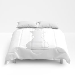 White king chess piece Comforters