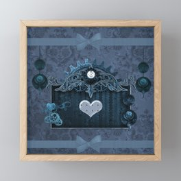 A touch of steampunk with elegant heart Framed Mini Art Print