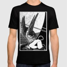 asc 638 - L'ange incarné (The earhtly angel) Black MEDIUM Mens Fitted Tee