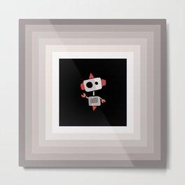 Paint Chip Robot Metal Print