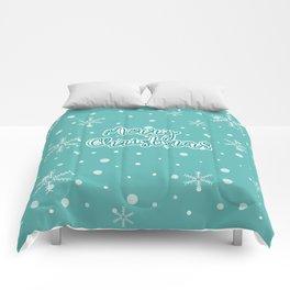 New Year, Christmas, winter holidays illustration Comforters
