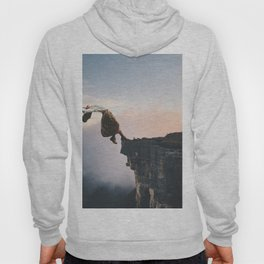 Up in the Clouds-Surreal Levitation Off a Cliff Hoody
