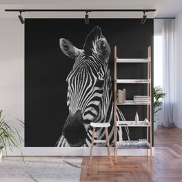 Zebra Black Wall Mural