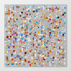 Splash dots Canvas Print