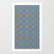 Liquid Ikat Art Print
