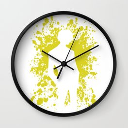 Anime Manga Sanji Paint Splatter Shirt Wall Clock