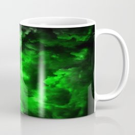 Envy - Abstract In Black And Neon Green Coffee Mug