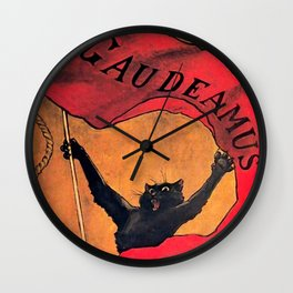 "Théophile Steinlen ""Gaudeamus"" Wall Clock"