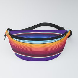 Traditional Mexican Serape in Purple Fanny Pack