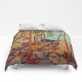 Tom Thomson Pine Cleft Rocks Canadian Landscape Artist Comforters