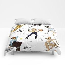 Bond Babes Pin-up Flash Sheet Comforters