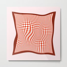 Silk Scarf Metal Print