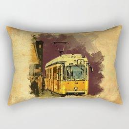Tram 2 Art Deco Rectangular Pillow
