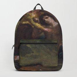 Eugene Delacroix - St. Sebastian With St. Irene And Attendant - Digital Remastered Edition Backpack