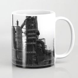 Bethlehem Steel Blast Furnaces in black and white 6 Coffee Mug