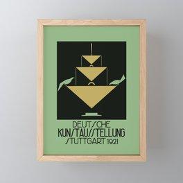 Stuttgart art expo: feed the birds Framed Mini Art Print